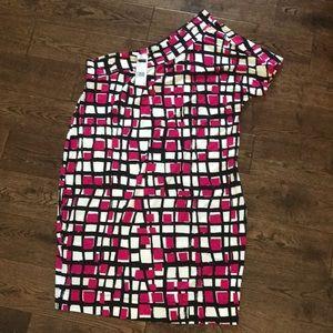 One shoulder Benetton dress